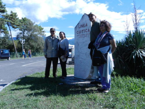 With Family at Old Gothic Line Monument