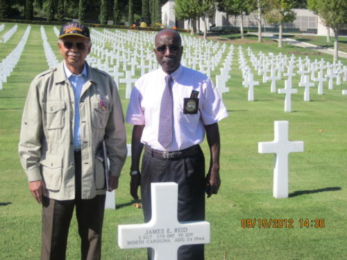 Gravesite of first WWII Buffalo Soldier killed in combat