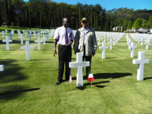 Gravesite of heroic Captain Jesse Jarman