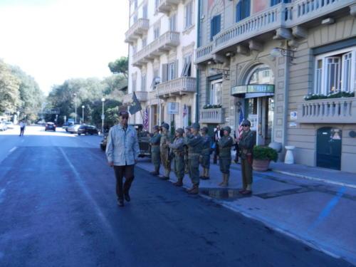 In Viareggio reviewing WWII reenactors
