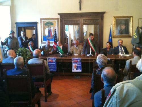 Meeting with officials at Barga