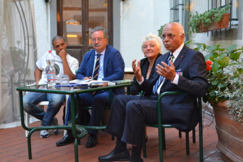 At the Villa with Fred Kuwornu, Prof. Sereni and translator