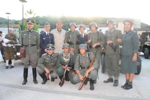 Reenactors in German uniforms at Ponte a Mariano