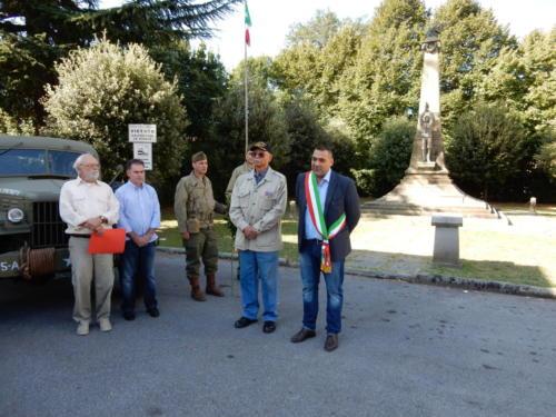 At Borgo a Mozzano honoring fallen Italian soldiers