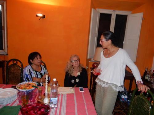 Daughter Kathi, Marta and Mattea at the Villa