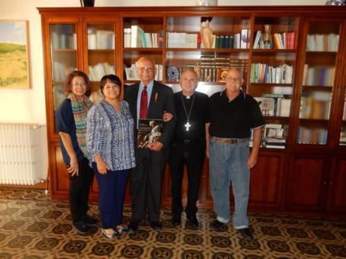 Family with Lucca Archbishop Italo Castellani