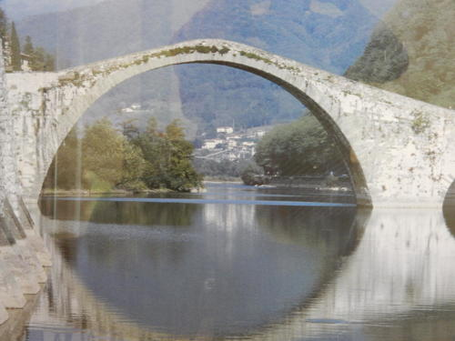 Midevil Bridge over Serchio River