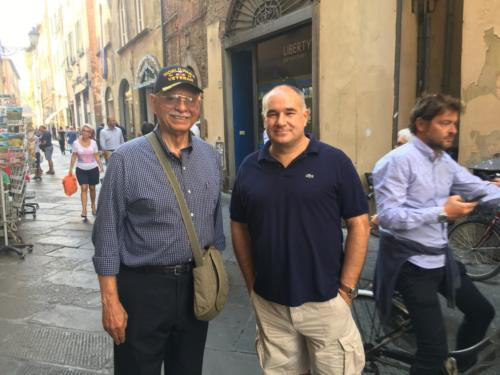Meeting retired Colonel Biondi in Lucca