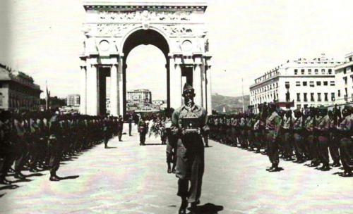 World War II Buffalo Soldier return ashes of Columbus to Genoa, his birthplace, June 1945